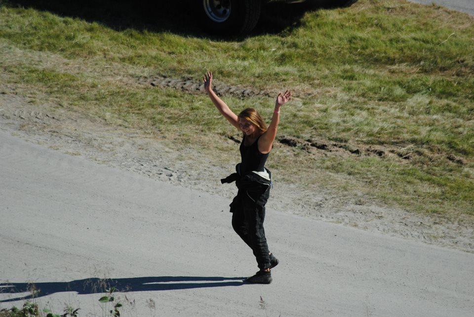 Betina etter at hun dro i land seieren. Foto: Ida Larsen