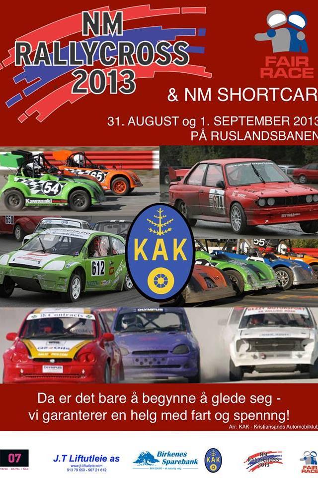 Plakat for NM-runden i Kristiansand førstkommende helg