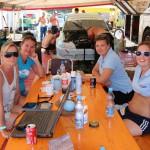 Cecilie, Nina, Kristine og Hege